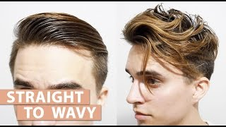 Download Straight to Wavy Hair without using any Products | Men's styling Tutorial Video