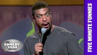 Download DeRay Davis⎢Stuff Men Can't Do For One Another Anymore⎢Shaq's Five Minute Funnies⎢Comedy Shaq Video