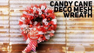 Download DIY Candy Cane Deco Mesh Wreath - Christmas 2019 Video