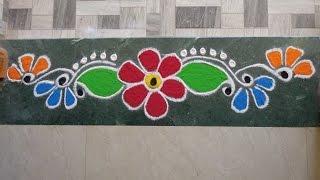 Download Colorful Border Rangoli Design Video