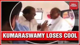 Download H.D Kumaraswamy Fights With His Own Minister, Venkatarao At Raichur Video