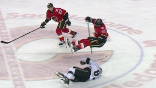 Download Doughty ducks out of the way of huge Tkachuk hit Video
