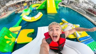 Download WORLDS BIGGEST INFLATABLE WATER PARK!! Video