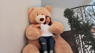 Download GIANT LIFE SIZE TEDDY BEAR SLIDE!!! (DON'T TRY THIS AT HOME) Video