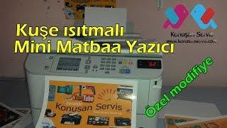 Download Mini Matbaa Kuşe Yazıcı ısıtma Sistemli tanıtım (Türkiyede ilk) Video