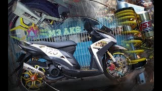 Download Modifikasi Yamaha Mio M3, YSS K Series, SC Project, Seven Speed, Pilot Street, Corsa Platinum, Power Video