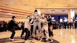 Download Jabbawockeez Uptown Funk Flashmob at MGM Grand Hotel & Casino Video