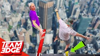 Download Don't Fall off the Retracting Plank!! | Answer Wrong and Your Plank Gets Shorter! Video