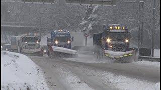 Download 4K| Scania And Mercedes-Benz Arocs Plow Trucks Video