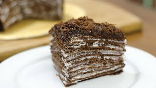 Download EGGLESS CHOCOLATE CREPE CAKE I Without Oven Video