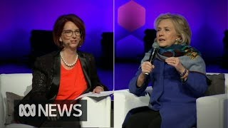 Download Hillary Clinton and Julia Gillard on women in power and weaponised fake news Video