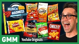 Download Munch Madness Taste Test: Meaty & Cheesy Snacks Ft. Harley Morenstein Video