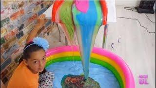 Download Çeşit Çeşit Slime Şelalesinden Slime Çorbasına Dönüşüm !! 60 Kilo Video