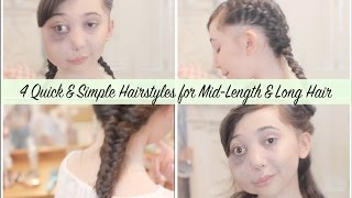 Download 4 Quick & Simple Hairstyles Video