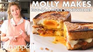 Download Molly Makes Egg-in-a-Hole Sandwich with Bacon and Cheddar   From the Test Kitchen   Bon Appétit Video