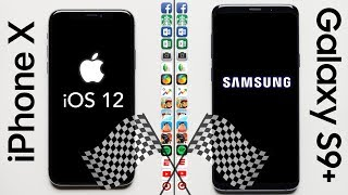 Download iPhone X (iOS 12) vs. Galaxy S9+ Speed Test Video