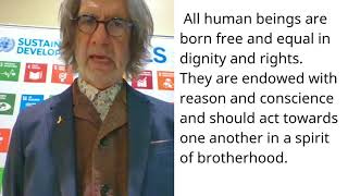 Download John Ciongoli, United States America, reading article 1 of the Universal Declaration of Human Rights Video