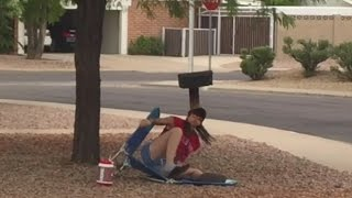 Download My redneck neighbor has temper tantrum over a folding lawn chair Video