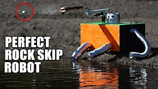 Download Rock Skip Robot- The SCIENCE of PERFECT ROCK SKIPPING Video