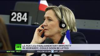 Download EU lawmakers vote to strip Le Pen of immunity for tweeting pictures of ISIS violence Video