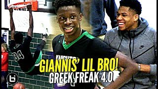 Download Giannis Watches His Lil Bro GO OFF!! Greek Freak 4.0?! Alex Antetokounmpo Highlights! Video
