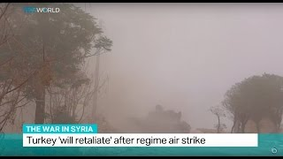 Download The War In Syria: Turkey 'will retaliate' after regime air strike Video