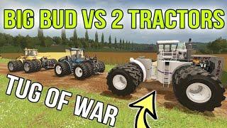 Download FARMING SIMULATOR 2017 | BIG BUD VS 2 NEW HOLLAND + CATERPILLAR | TUG OF WAR FINAL! Video