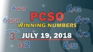 Download PCSO EZ2, Suertres, 6Digit, Superlotto 6/49,Lotto 6/42 Draw | July 19, 2018 Video