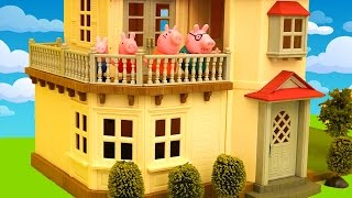 Download Beautiful Dollhouse Toys With Lots of Furniture - Peppa Pig Doesn't Want to Move to New House Video