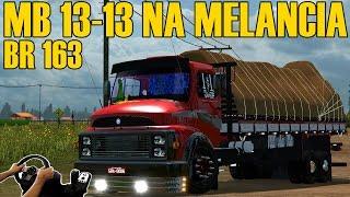 Download MB 1313 CARREGANDO MELANCIA - PRESSÃO NA 163 - MT X MS - VOLANTE G27!!! Video