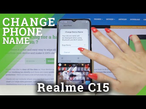 How to Change Device's Name in REALME C15 – Customize Name
