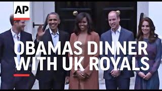 Download Obamas arrive for dinner with UK Royals Video