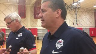 Download John Calipari talks about finding players for the U19 men's hoops team. Video