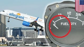 Download Plane almost runs out of fuel: Allegiant Air flight lands with just minutes of fuel left - TomoNews Video