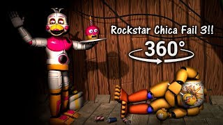 Download 360°| ROCKSTAR CHICA FAIL 3!! - FNAF6/FFPS [SFM] (VR Compatible) Video