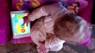 Download Smart 16 month old baby plays on iPad mini Video