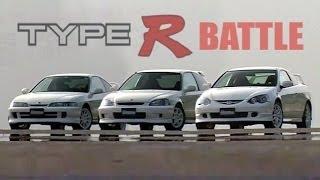 Download [ENG CC] Integra Type R DC2 vs. DC5 vs. Civic EK9 battle Ebisu 2001 Video