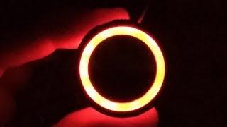 Download Inside an illuminated Otis elevator call button. Video