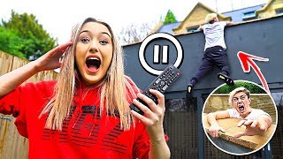 Download PAUSE CHALLENGE With GIRLFRIEND For 24 HOURS! *Gone Too Far* Video