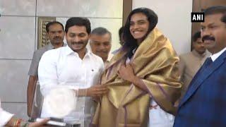 Download PV Sindhu meets Andhra CM Jagan Mohan Reddy in Amravati Video