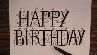 Download fancy letters - how to write happy birthday for beginners Video