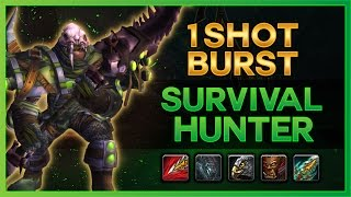 Download BURST HARD AF - 7.1 SURVIVAL HUNTER PVP GUIDE - WOW LEGION Video