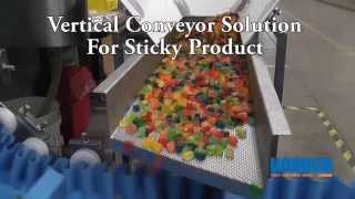 Download Vertical AquaPruf Conveyor for Sticky Product Video