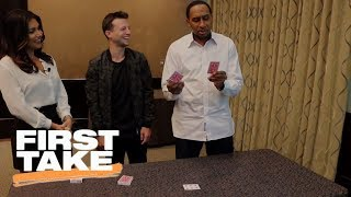 Download Magician Mat Franco stuns Stephen A. Smith and Molly Qerim with magic trick | First Take | ESPN Video