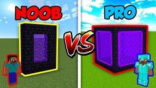 Download Minecraft NOOB vs. PRO: PORTAL in Minecraft! Video