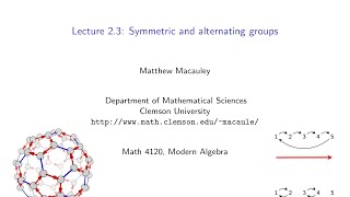 Download Visual Group Theory, Lecture 2.3: Symmetric and alternating groups Video