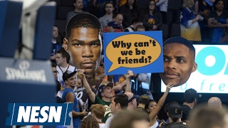 Download OKC Thunder Fans Come Out With Clever Anti-KD Signs Video