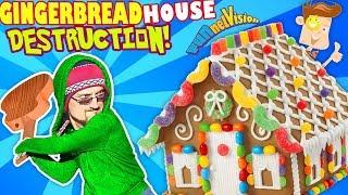 Download GINGERBREAD HOUSE DESTRUCTION! Tree Smash! (FUNnel Vision Vlog) Video