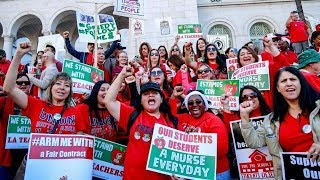 Download Los Angeles teachers strike is officially on Video
