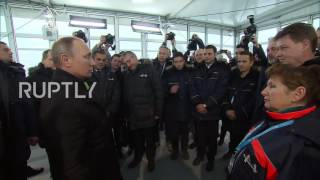 Download Russia: Putin opens 'very significant' section of new St. Petersburg highway Video